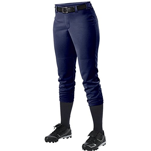 Alleson Athletic Women 's Softball Pants withベルトループ B00FFSEV4I L Nav Nav L