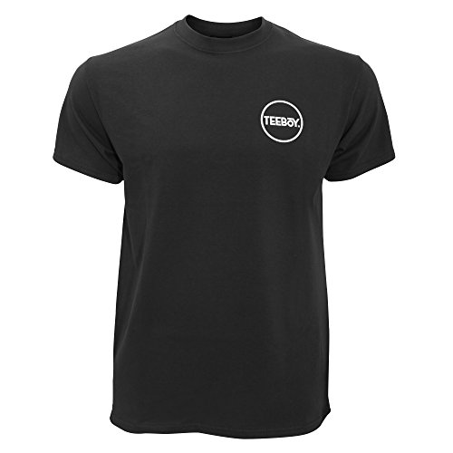 Teeboy Mens Brand Carrier Short Sleeve T-Shirt (X-Large) (Black)