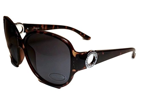 BEBE BB7171 Brown Rhinestone Royalty Sunglasses (Bebe Brown Sunglasses)
