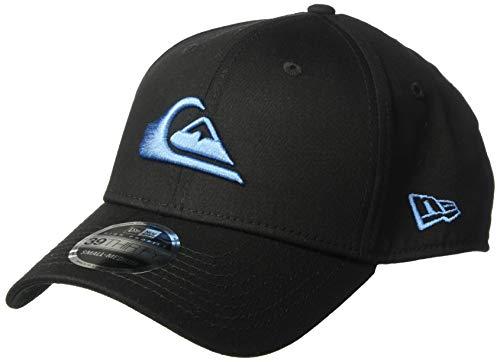 (Quiksilver Men's Mountain & Wave Black Stretch FIT HAT, Southern Ocean, M/L)