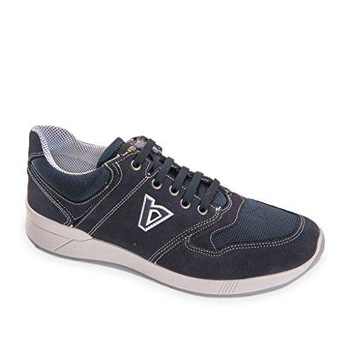 VALLEVERDE Uomo Sneakers Blu 53842 Scarpe in Pelle Primavera Estate 2018 blu