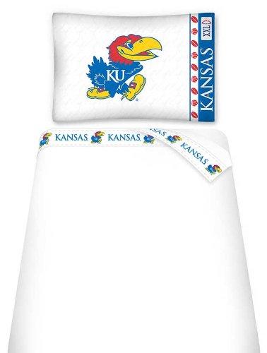 (NCAA Kansas Jayhawks Micro Fiber Sheet Set, Twin)