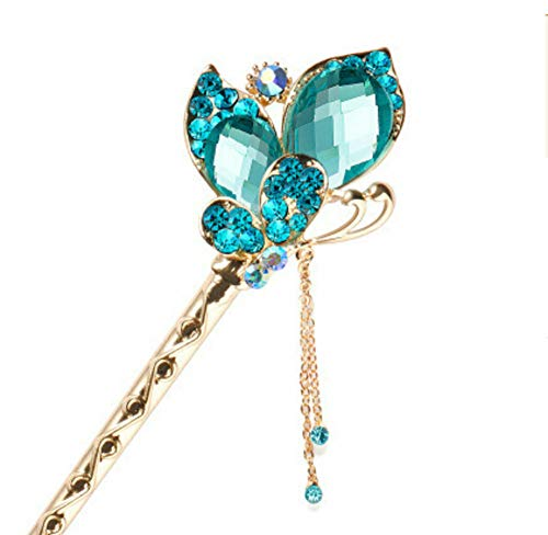 - Chinese Style Metal Rhinestone Hair Stick Hair Chopsticks Chignon Hairpin Pin (Color - #38)