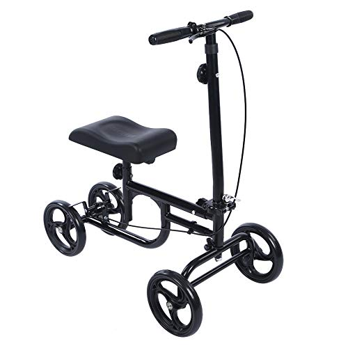 - ELENKER Economy Knee Walker Steerable Medical Scooter Crutch Alternative Black