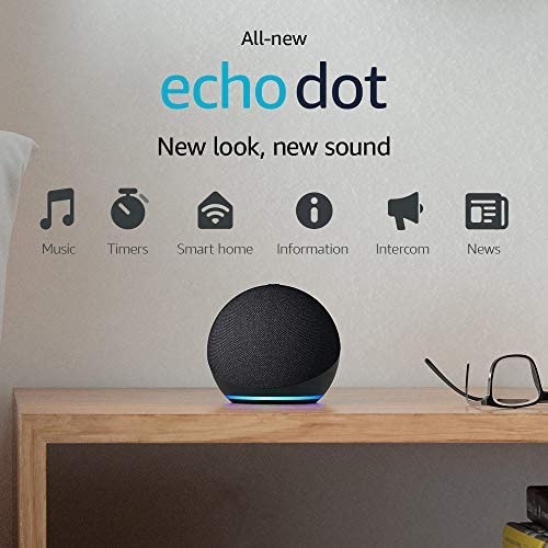 All-new Echo Dot (4th Gen, 2020 unencumber) | Smart speaker with Alexa | Charcoal