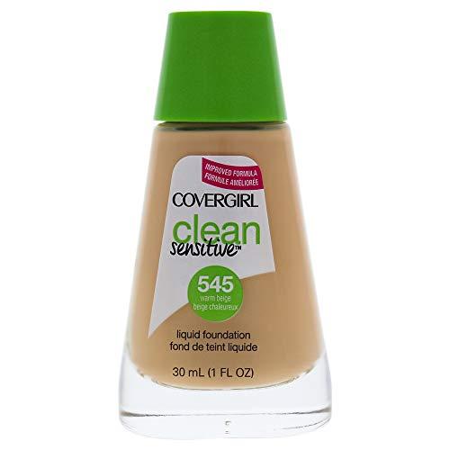COVERGIRL Clean Sensitive Skin Liquid Foundation Warm Beige, 1 oz (packaging may vary)