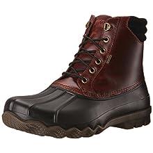 Sperry Top-Sider Men's Avenue Duck Blk Ameretto Rain Boot, Black, 12 US/US Size Conversion M US