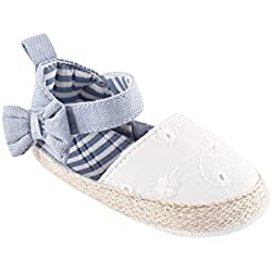Luvable Friends Girl's Bow Espadrille (Infant), Chambray, 12-18 Months M US Infant