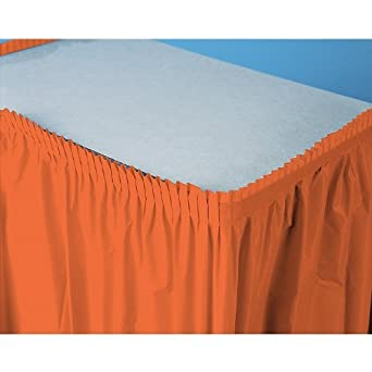 Faldón de mesa (plástico), color naranja: Amazon.es: Amazon.es