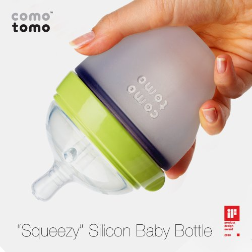 41MromBlE%2BL - Comotomo Natural Feel Baby Bottle, Green, 5 Ounce