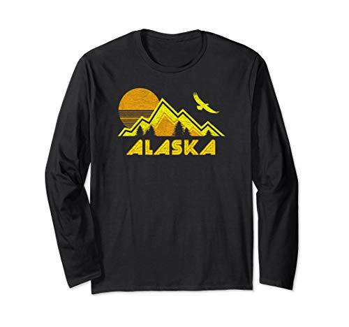 Home Shirt Ls Retro - Retro Alaska Home Shirt Long Sleeve Gift Tee