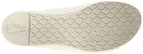 Sandales Blanc Ouvert 004 Wigg672 White Cassé Fly Off London Femme Bout EFpYgSq
