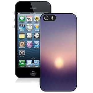 NEW Unique Custom Designed iPhone 5S Phone Case With Sunset Haze Blur Pattern_Black Phone Case