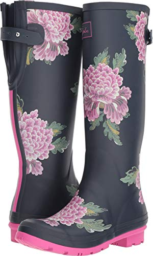 Price comparison product image Joules Women's Tall Welly Print Navy Chinoise 7 B US