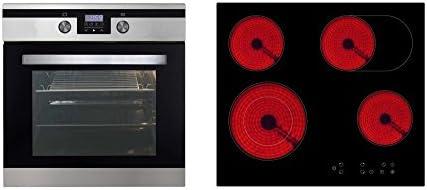 respekta CERAN Horno Cocina Set XXL Horno vitrocerámica hobs ...