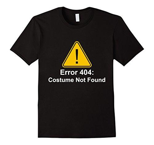 Men's 404 Error Costume Not Found T-Shirt - Halloween Shirt Large Black