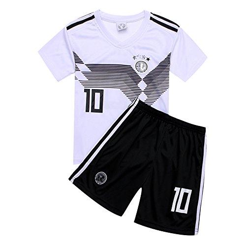 ブルゴーニュバンカー花婿サッカー2018 ドイツ代表チーム ユニフォーム 上下セット オジル 背番号10 OZIL 子供用 (子供L,オジル) (L)