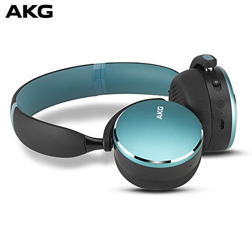 (AKG Y500 On Ear Foldable Wireless Bluetooth Headphones - Green (US Version))