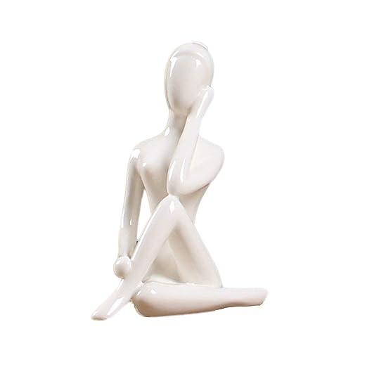 Gwendoll 12 Estilos Figuras de Yoga De Cerámica Blanca Ename ...