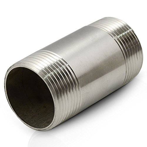 """75MM NPT 2"""" DN15 Male Threaded Pipe Fitting with Stainless Steel SS 304"""