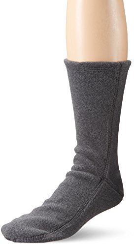 ACORN Unisex Versafit Sock Slipper, Charcoal, Large (Women's 11.5-12.5/ Men's 10-11) Standard US Width US