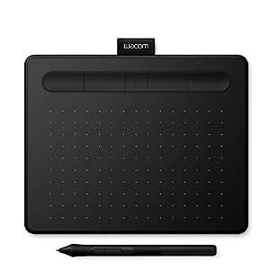 Wacom Intuos S - Tableta gráfica portátil para pintar, dibujar y editar photos con 1 software creativo incluydo para descargar*, compatible con Windows & Mac, negro