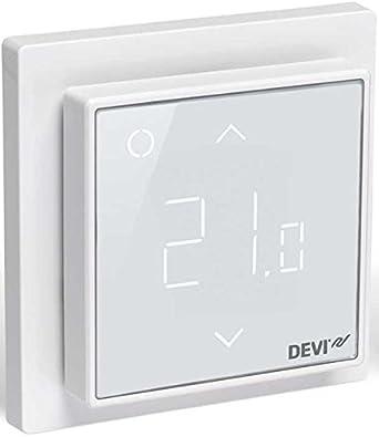 Thermostat f/ür Fu/ßbodenheizung mit Touchscreen Devireg Touch Polarwei/ß