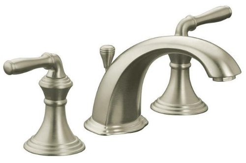 Devonshire 8 in. Widespread 2-Handle Low Arc Bathroom Faucet in Vibrant Brushed Nickel ()