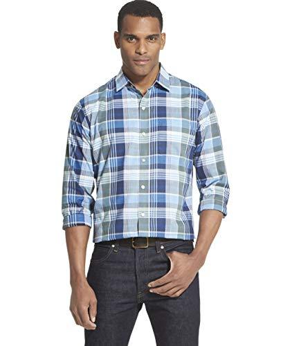Van Heusen Men's Air Long Sleeve Button Down Shirt, Blue Underground, X-Large