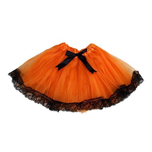 AMA(TM) Kids Girls Fluffy Tutu Skirt Princess Ballet Dance Party Skirts Dress (Princess Peach Baby Costume)