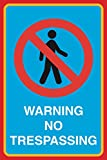 Warning No Trespassing Print Picture Notice Home Office Work School Business Sign Aluminum Metal