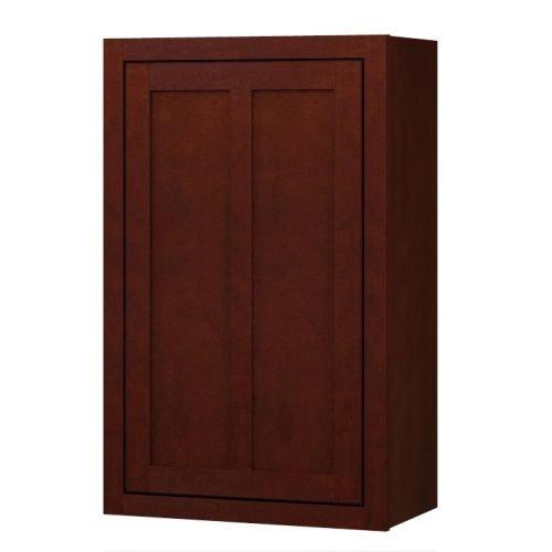 Sagehill Designs LDW2136 Lakewood 21″ x 36″ Single Door Kitchen Wall Cabinet, Cabernet