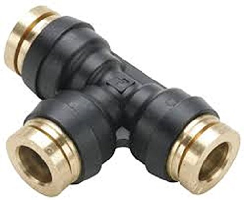 Parker 164PTC-5/32-pk20 Transmission Fitting, Tube to Tube, Brass, Push-to-Connect Tee, 5/32'' (Pack of 20)