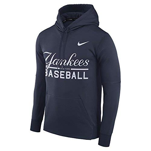 - Nike Men's New York Yankees Therma Pull Over Hoody Navy Size X-Large