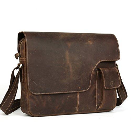 L.Y.D - Bolso al hombro para hombre marrón marrón