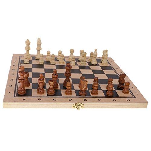 Lovoski 折り畳み ボードゲーム チェスセット チェッカー バックギャモン 3種類 おもちゃ