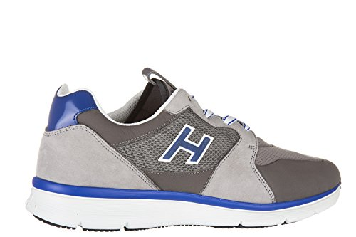 Hogan chaussures baskets sneakers homme en cuir h254 t2015 h flock gris