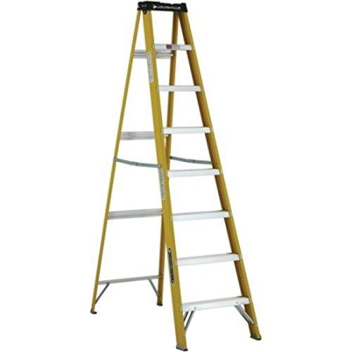 Non Conductive Fiberglass Slip Resistant Aluminum Steps Ladder by Louisville Ladder