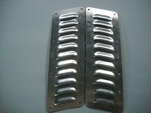 """Louver Kit (RodLouvers Pair of Angled Aluminum 3"""" 11 Louvers Each (Bolt-On) Kit)"""