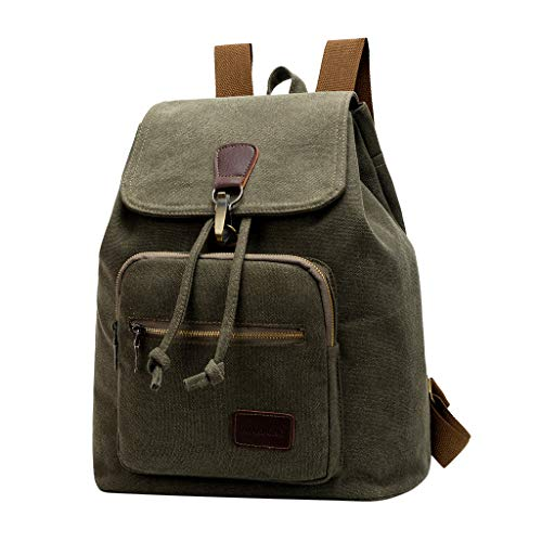 e0ce3cef447c YEZIJIN Men Women Cavans Vintage Casual Shoulder School Travel Laptop Bag  Backpacks Under 20