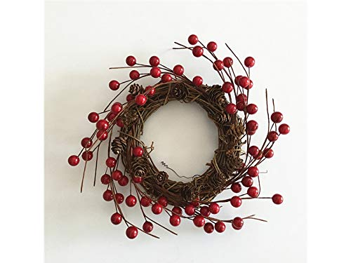 Junson Xmas Gift Simulation Berry Christmas Wreath Door Hanging Ornaments Room Christmas Tree Pendants for Decoration(Red) for Xmas by Junson (Image #5)
