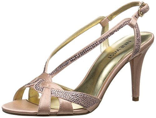 Nine West Women's Illiona Satin Heeled Sandal, Light Pink, 6 M US - Nine West Satin Shoes