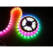 New 12V LED Crazy Lights 20 Meters 66.6 Feet - Tape Rope Lighting - Chasing 4 Rolls Complete System