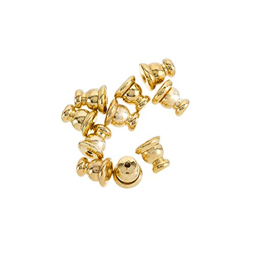 Gold Plated Ear Stud Backs Bullet Clutch Stoppers - 5mm Beads Jar