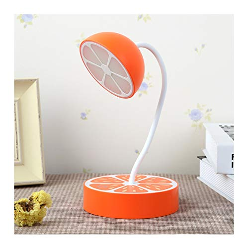 WFTD LED Table lamp Night Light Eye Protection Fruit Shape Touch Switch Brightness Adjustable USB Rechargeable 360 Degree Adjustable Direction Suitable for Children,Orange