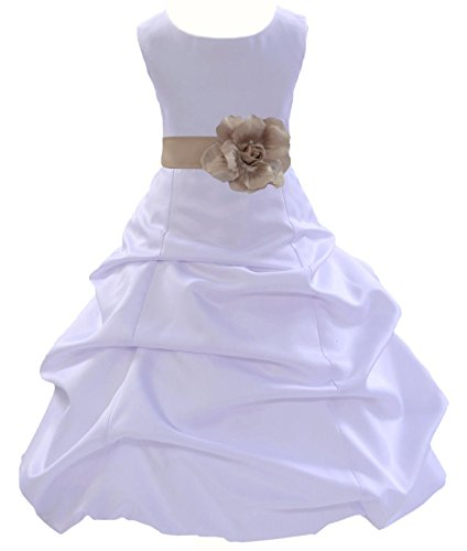 Wedding Pageant White Flower Girl Dress Toddler Bridesmaid Formal Events 808t 12 (Dress Girl Flower Pageant Toddler)