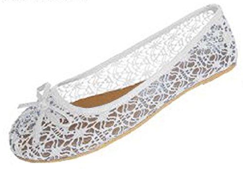 Scarpe 18 Scarpe Basse Da Donna Con Scollo Alluncinetto Con Sottostrato Trasparente 5060a Bianco