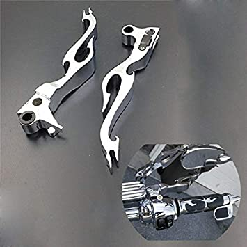 Chrome Brake Clutch Lever For Harley Xl Sportster 883 1200 Softail