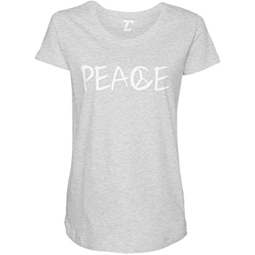 Peace - Freedom Symbol Peaceful Side Ruched Maternity T-Shirt (Light Gray, X-Large)
