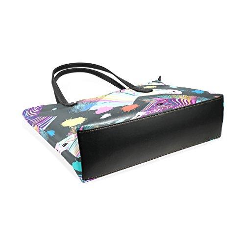 Bag Donne Coosun Muticolour Borse A Leather Zebra Borsa Pu Della Tote Modello Le Per E Medio Tracolla Colorful rZrq7